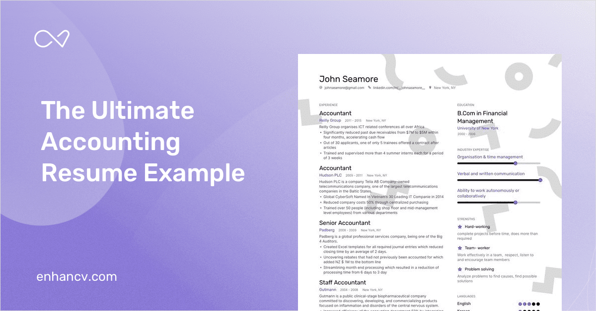 Accounting Resume Samples Amp Examples For 2020 Guide Included