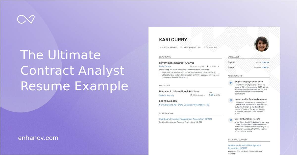 Download Contract Analyst Resume Example For 2020