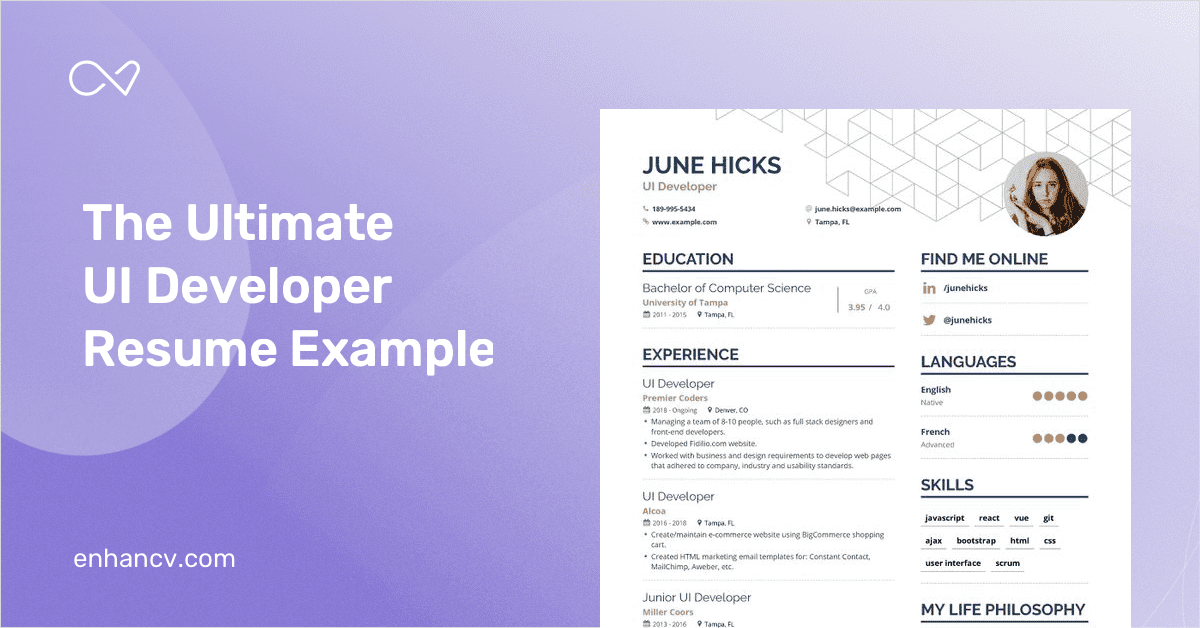 ui developer resumes guide  expert tips  u0026 examples