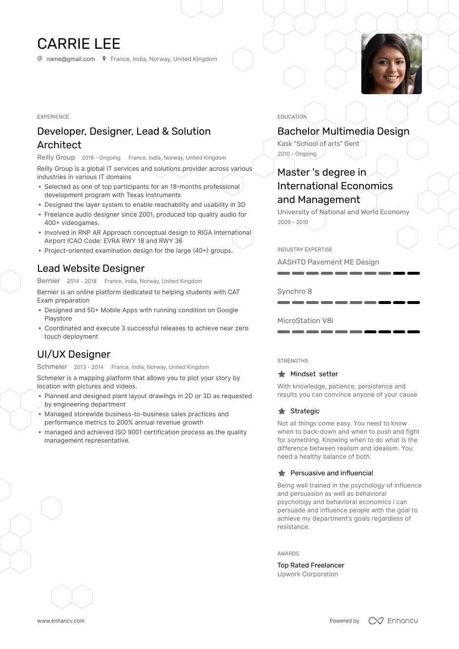Top Graphic Designer Resume Examples Samples For 2020 Enhancv Com