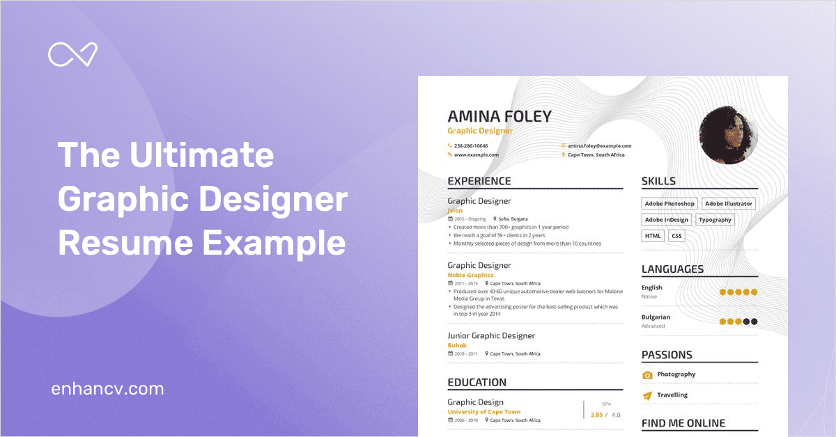 graphic designer resume example and guide for 2019