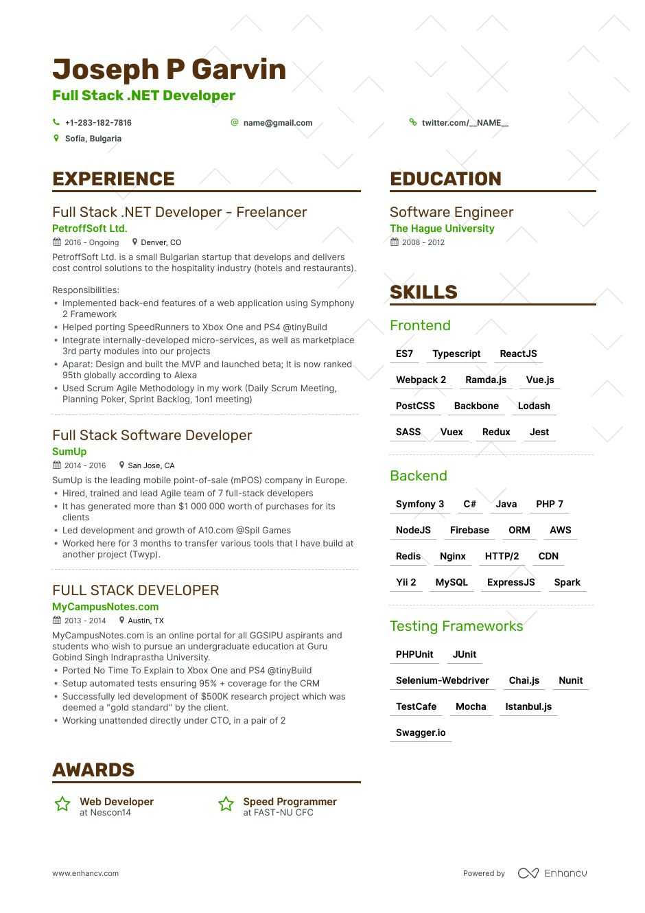 Full Stack Developer Resume Example Expert Tips