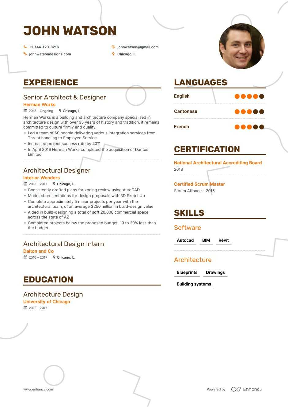 2019\'s Architectural Designer Resume Examples & Guide