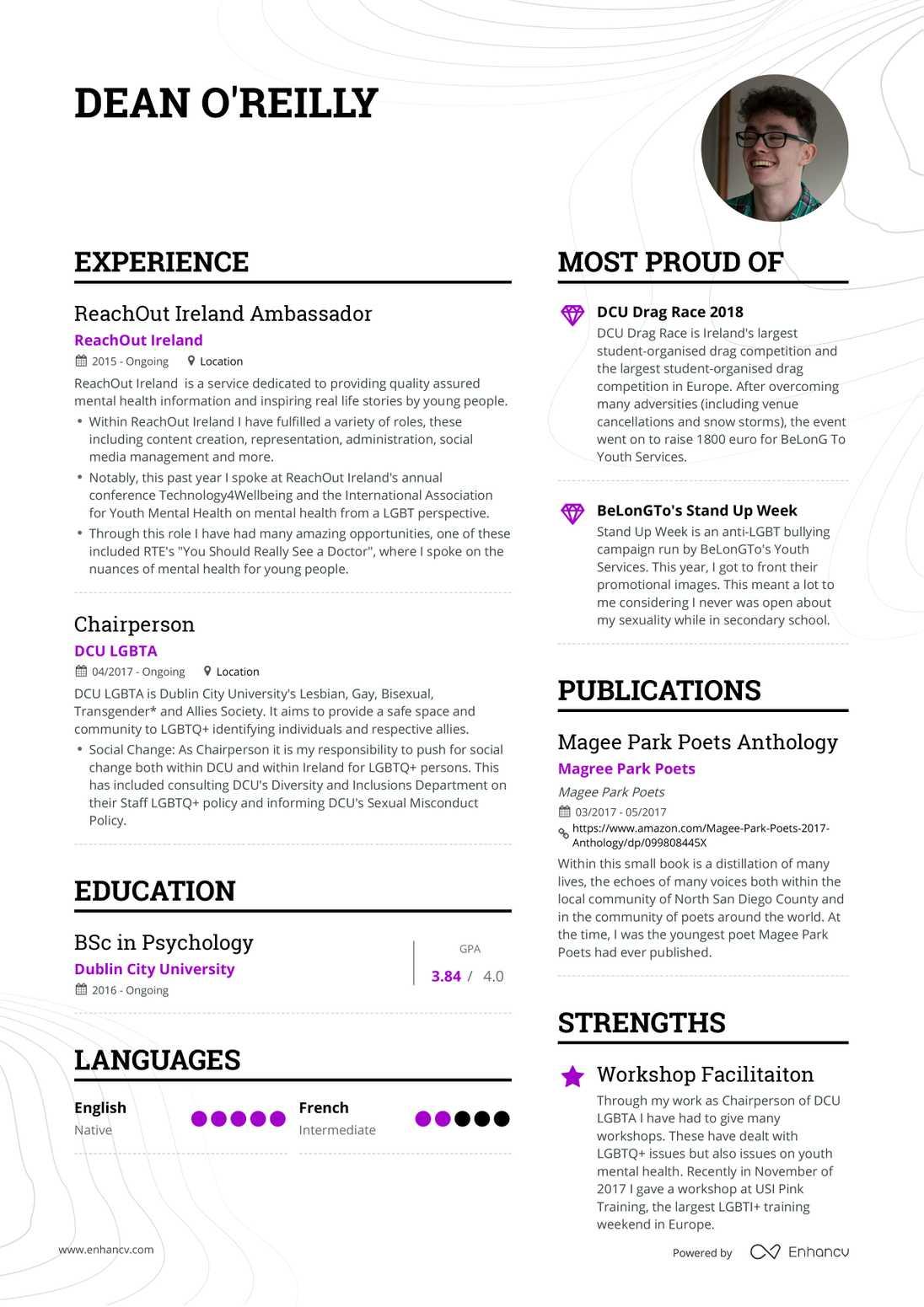 Real Student Resume Example | Enhancv