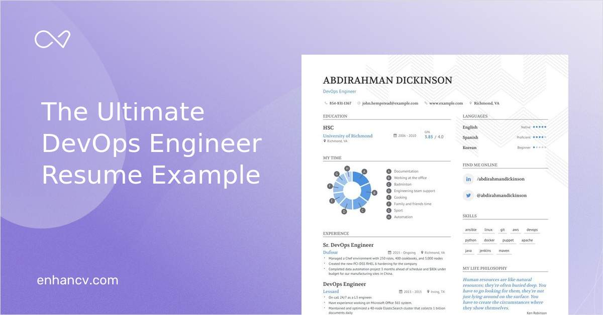The Best Devops Engineer Resume Examples Skills To Get You Hired