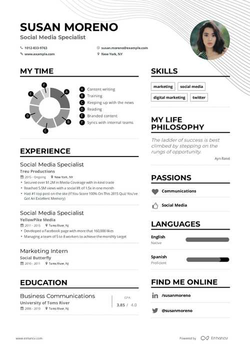 Susan Moreno resume preview