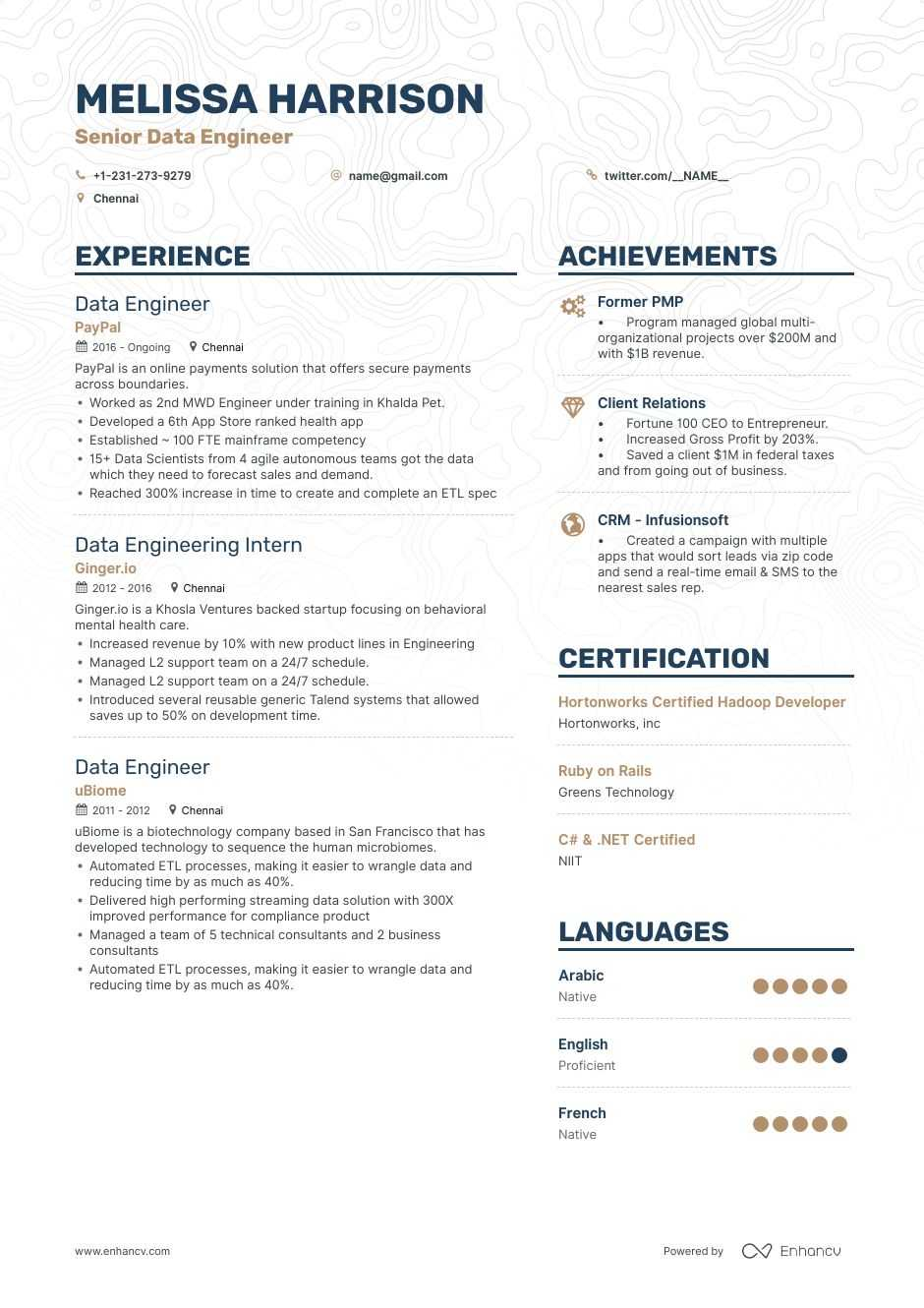 Data Engineer Resume Samples | Do\'s and Don\'ts for 2019