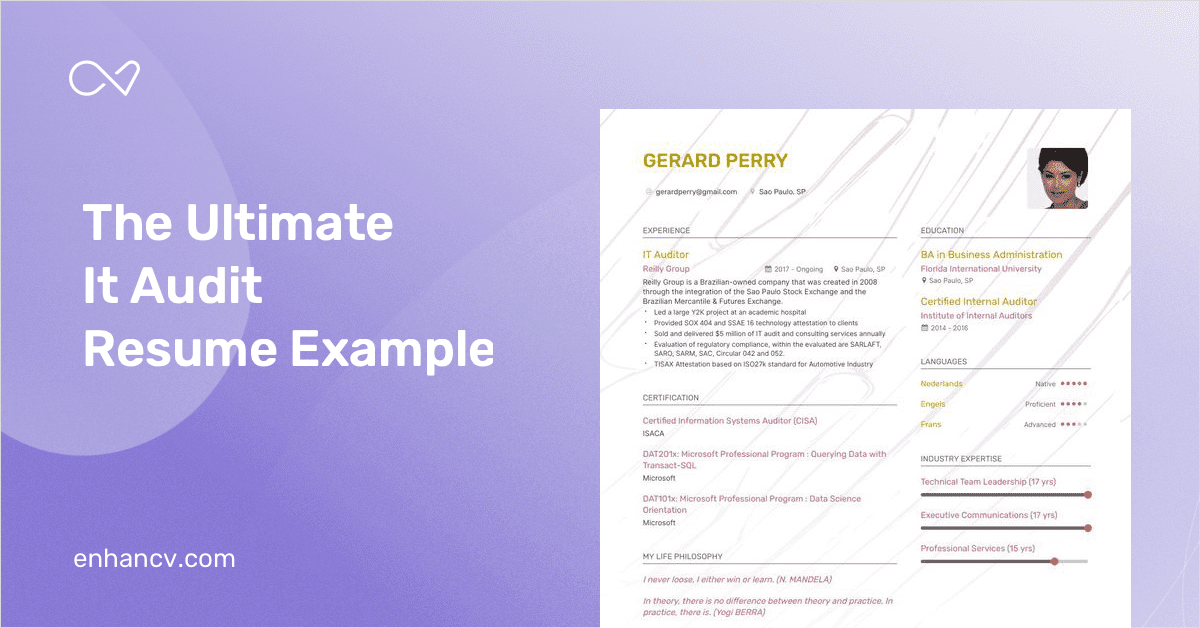it audit resume example and guide for 2019