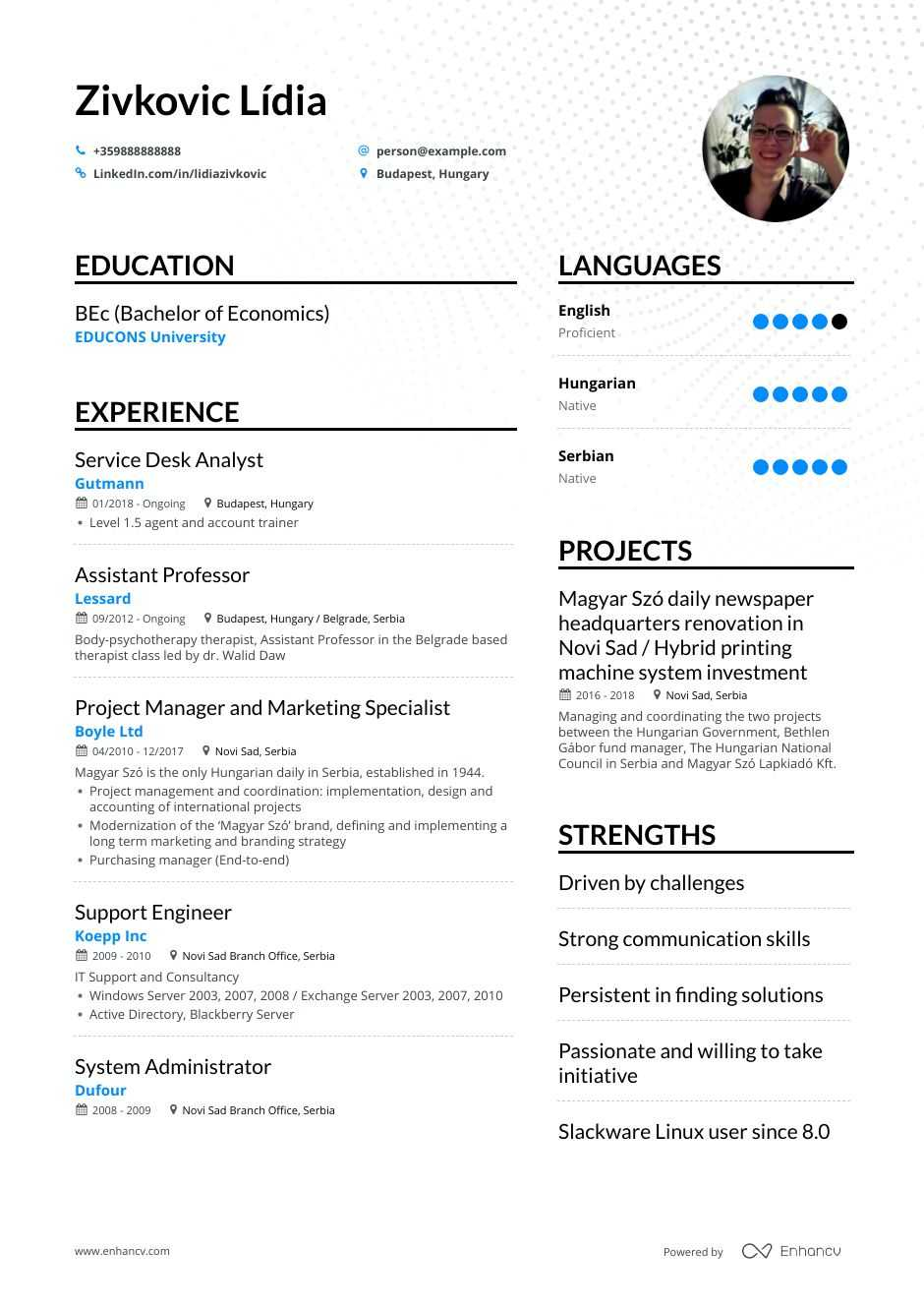 it support resume example