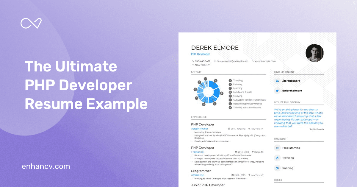 php developer resume example and guide for 2019