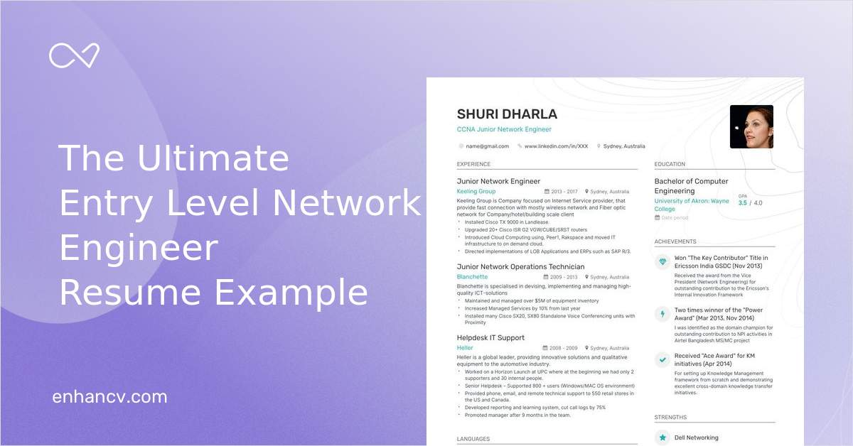 entry level network engineer resume examples  skills
