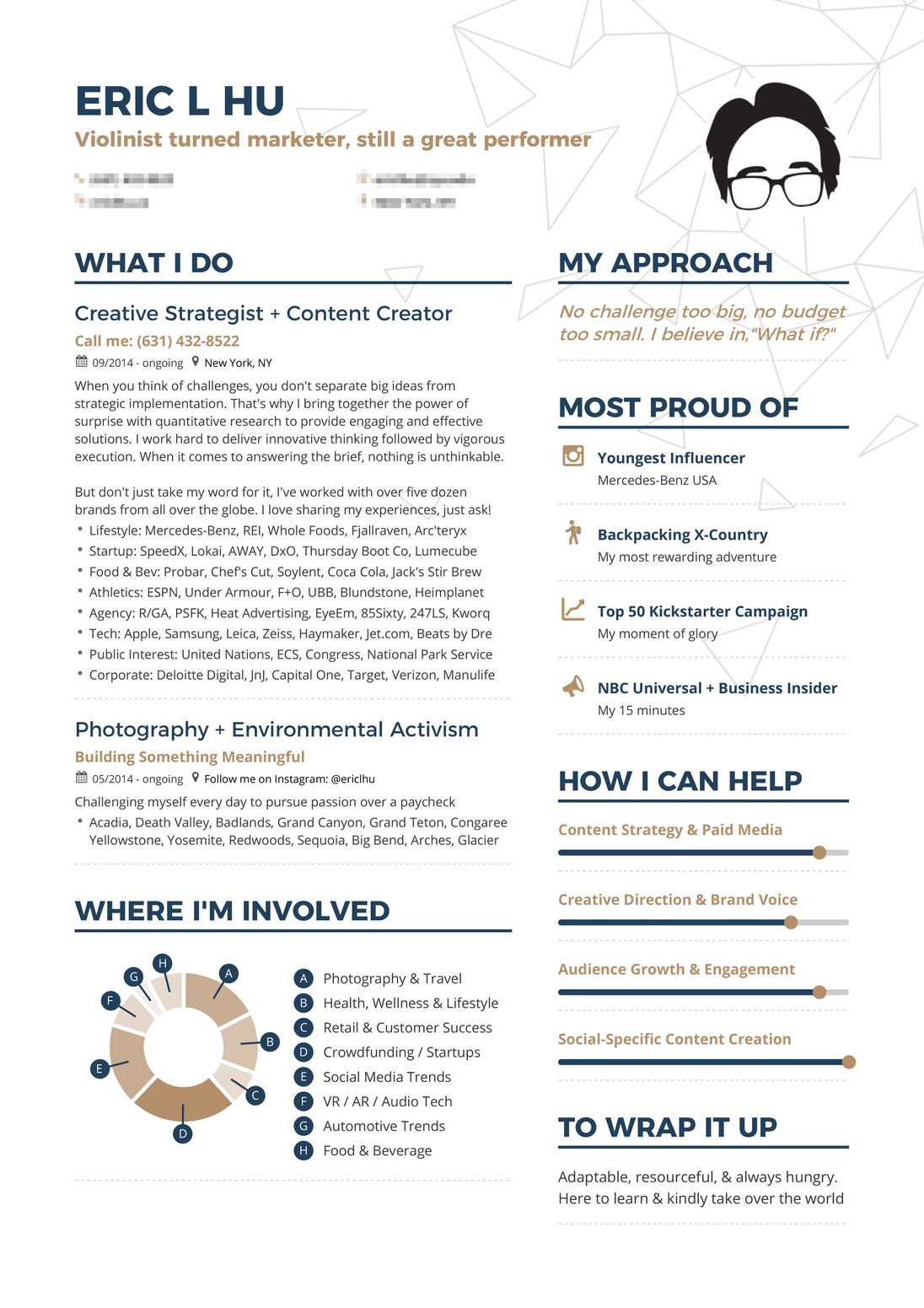 real creative marketing resume example enhancv