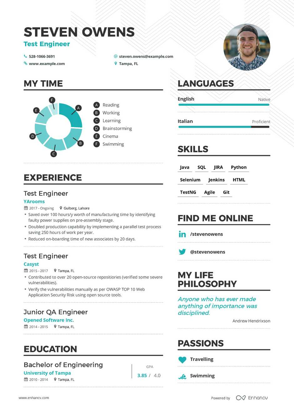 Test Engineer Resume Example and Guide for 2019