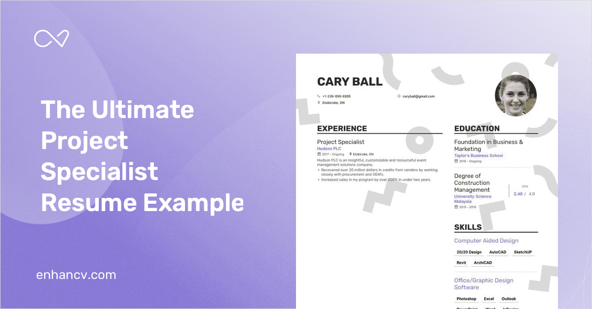 project specialist resume example and guide for 2019
