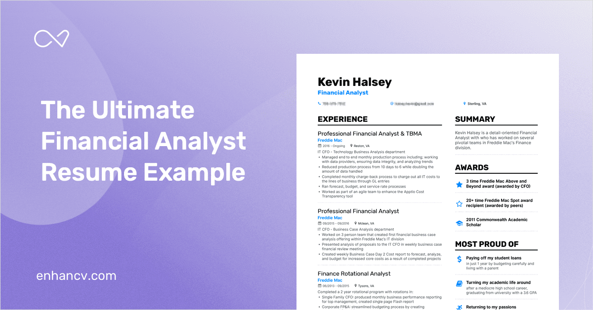 Financial Analyst Resume Example and Guide for 2019