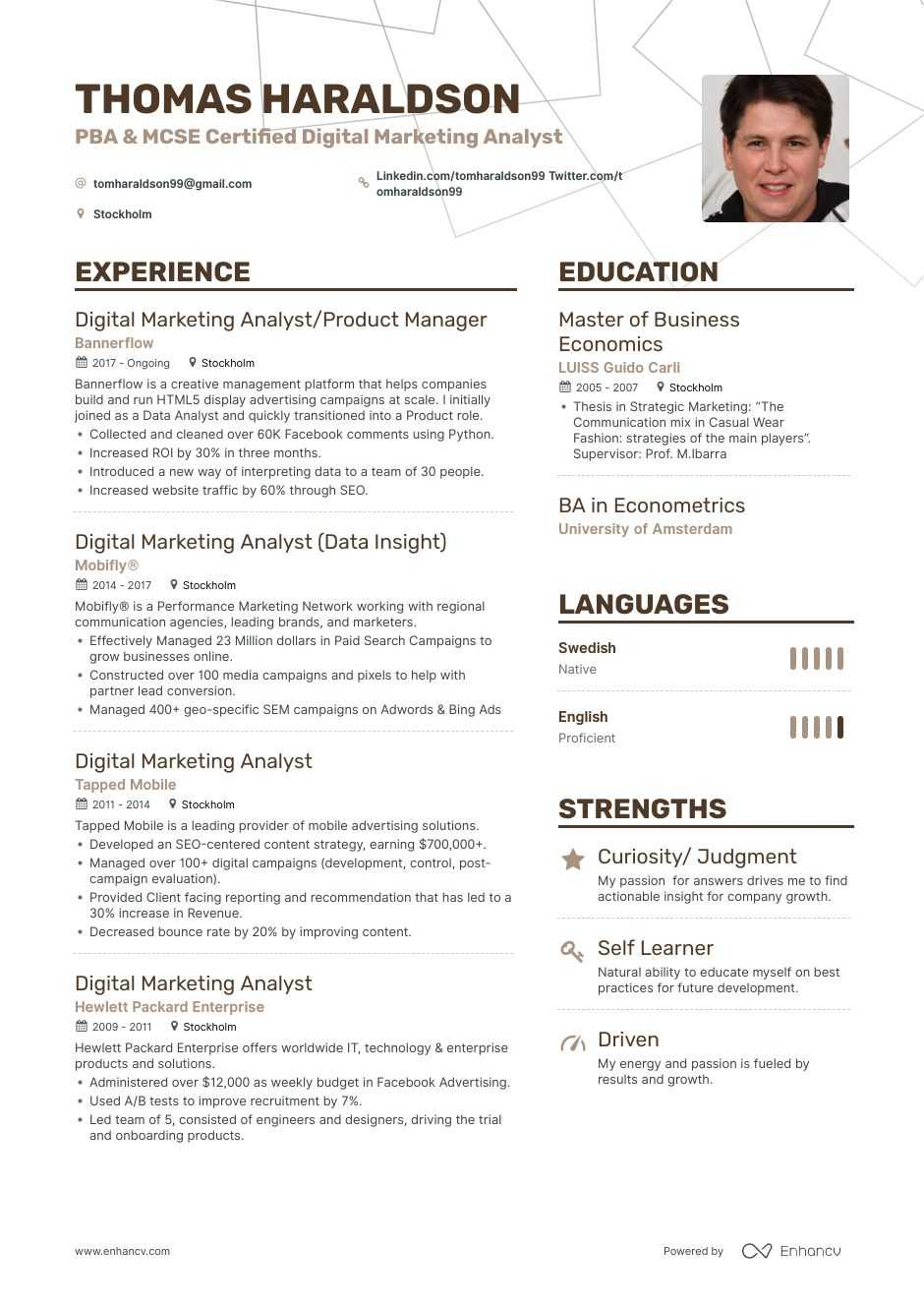 Data Analyst Entry Level Resume Example and guide for 2019