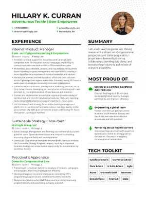Product Manager Resume Example and guide for 2019
