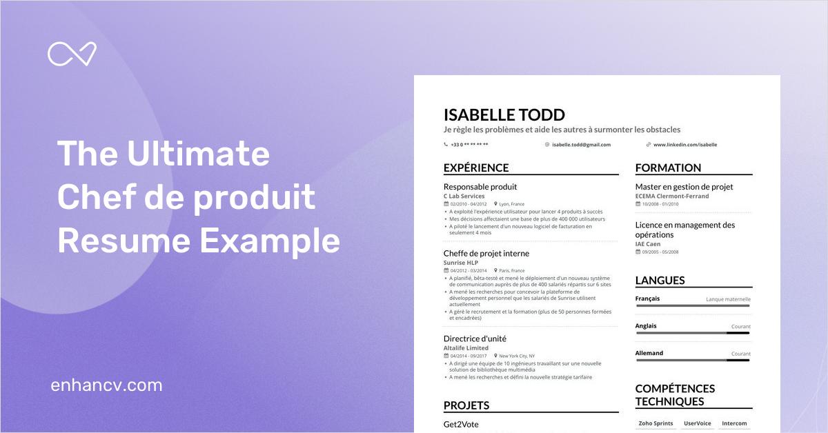 CV de chef de produit : conseils pour rédiger un CV efficace
