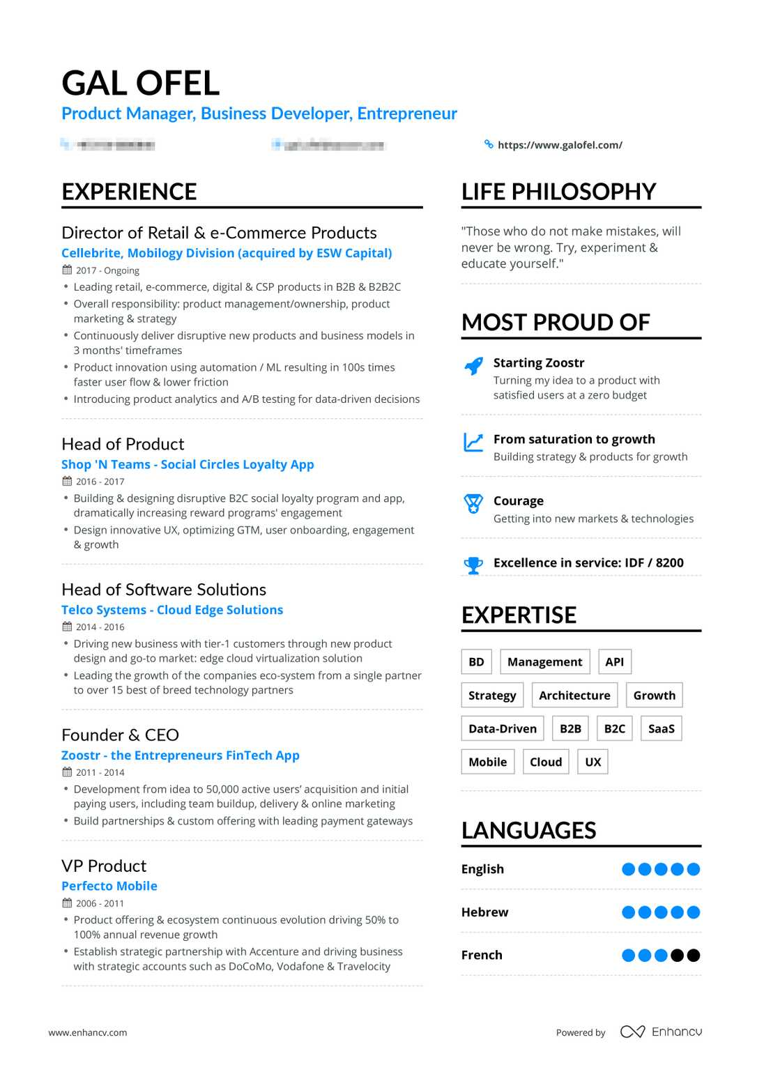 real business development resume example