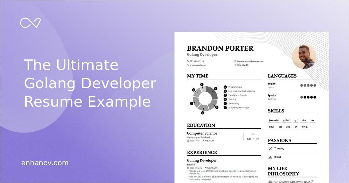 Job Winning Golang Developer Resume Examples Samples Tips Enhancv