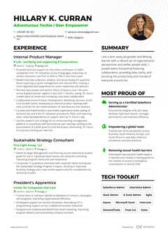 Hillary Curran's resume preview