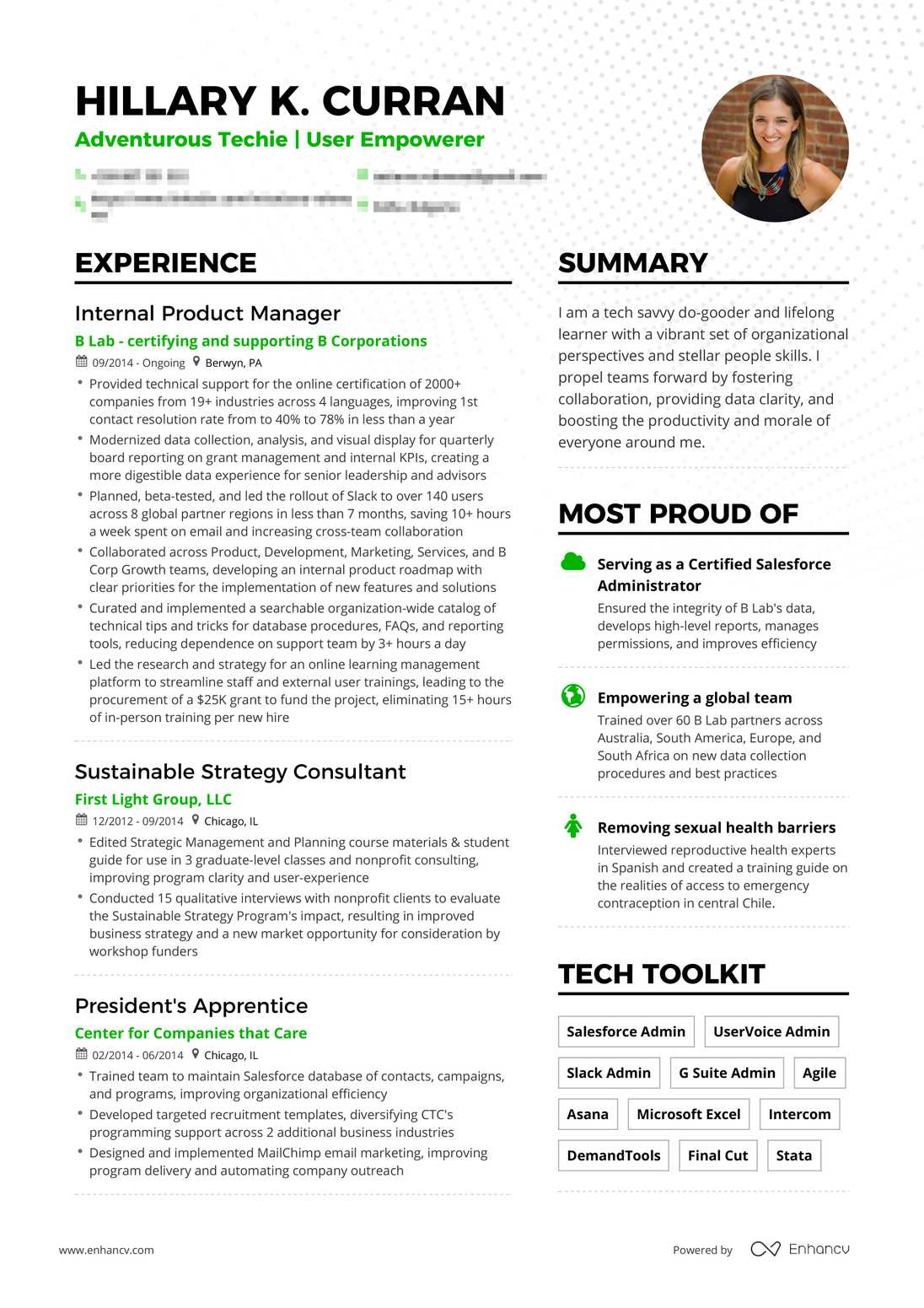 real product manager resume example