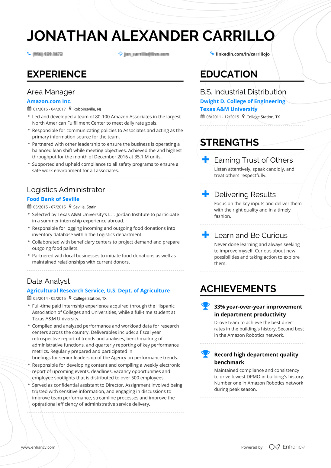 Real Operations Manager Resume
