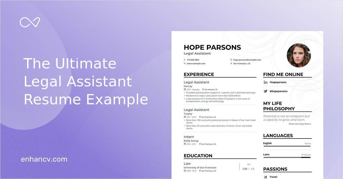 legal assistant resume samples