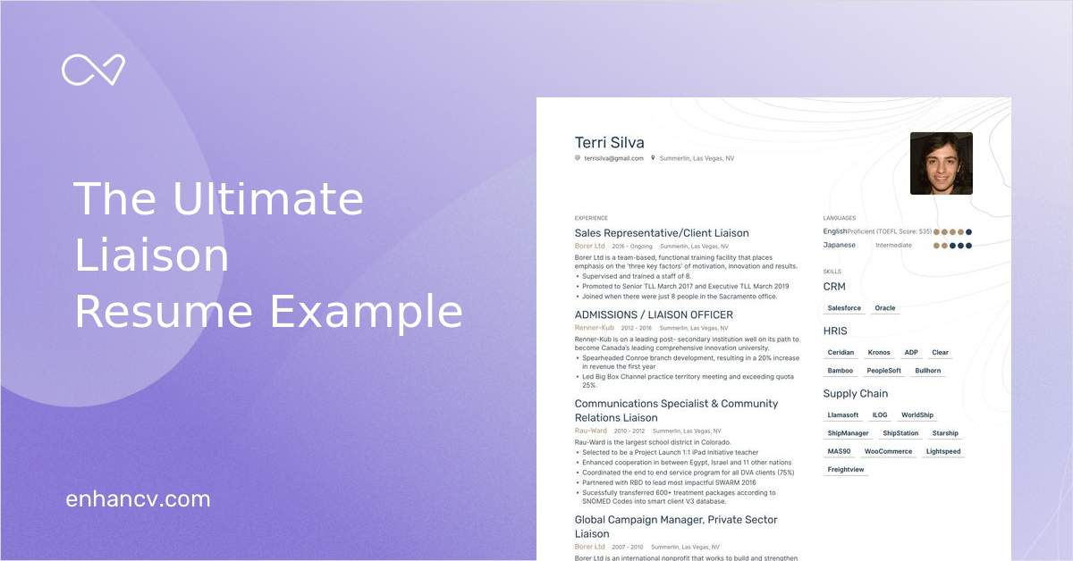 top liaison resume examples  u0026 samples for 2020