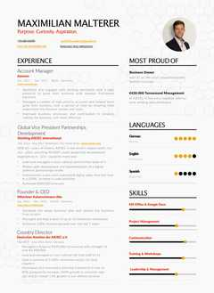 Maximilian Malterer's resume preview