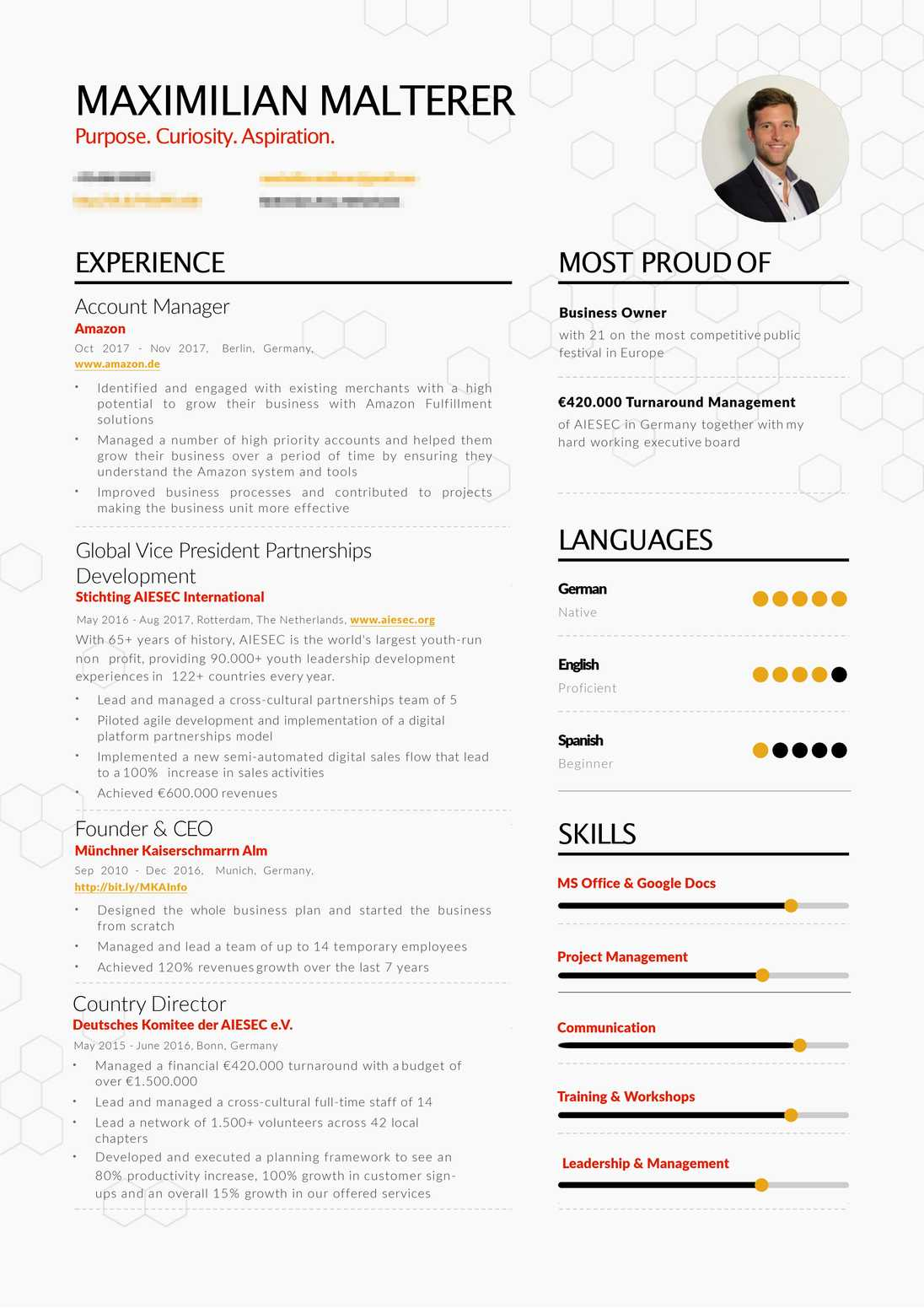 Maximilian Malterer's resume preview Maximilian Malterer's resume preview