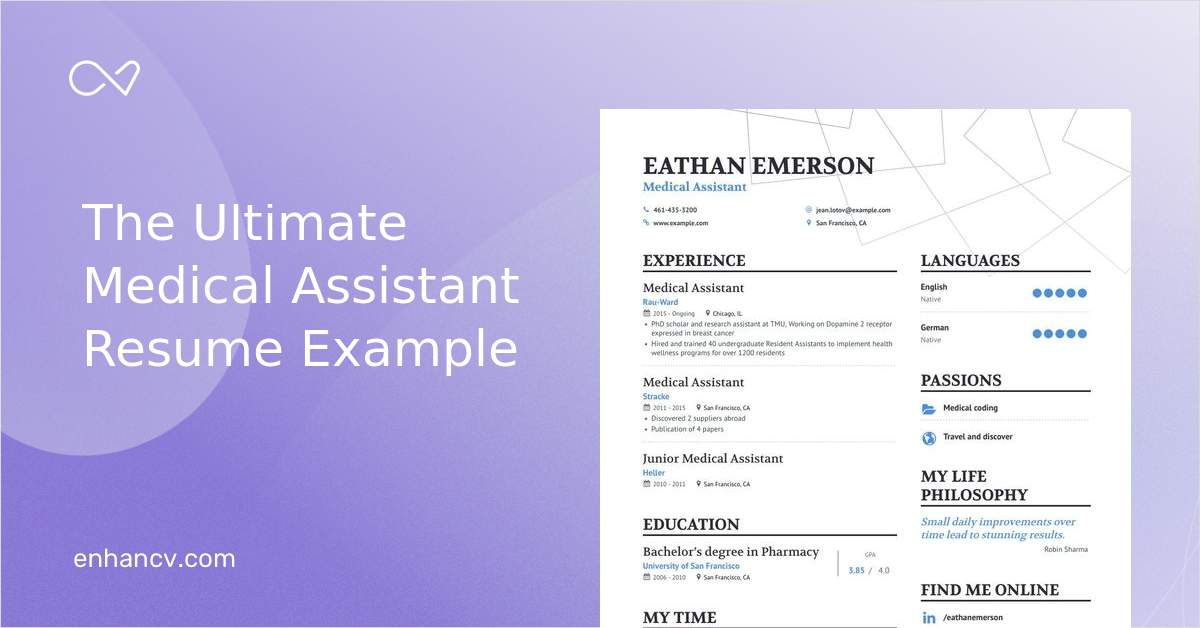 top medical assistant resume examples  u0026 samples for 2020