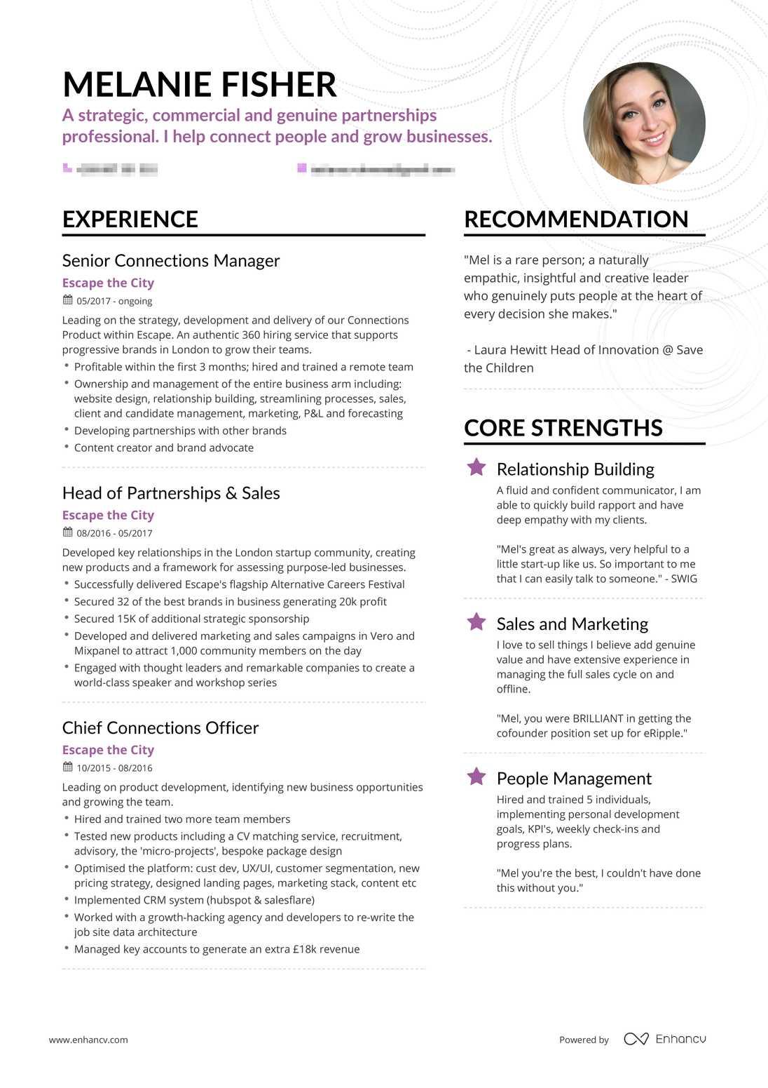 Real Sales Resume Example | Enhancv