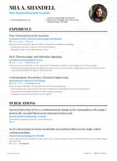 Mia A. Shandell's resume preview