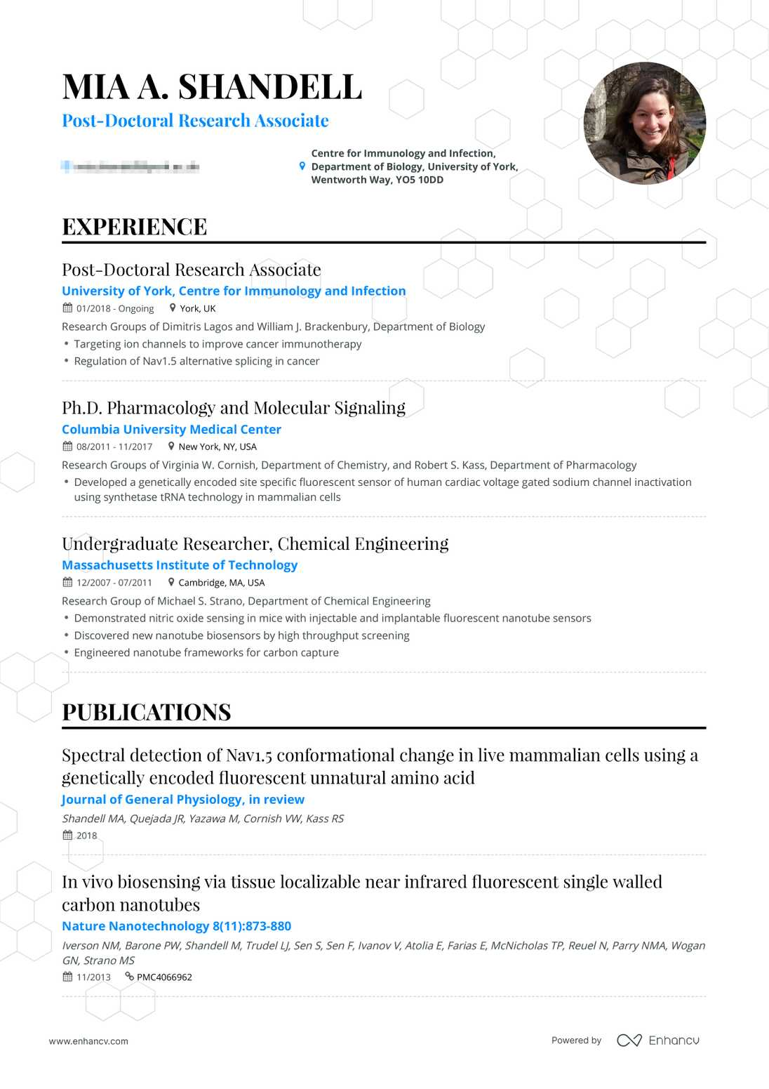 Real Research Assistant Resume Example Enhancv
