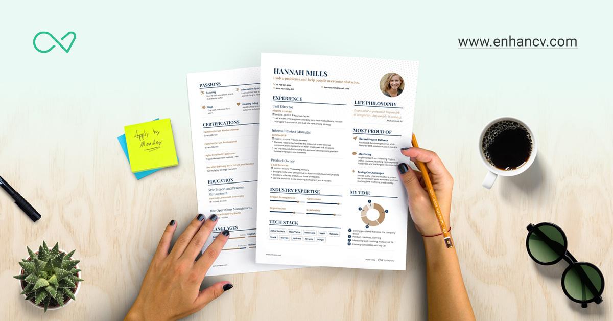 Free Resume Builder | Online Resume Builder | Enhancv.com