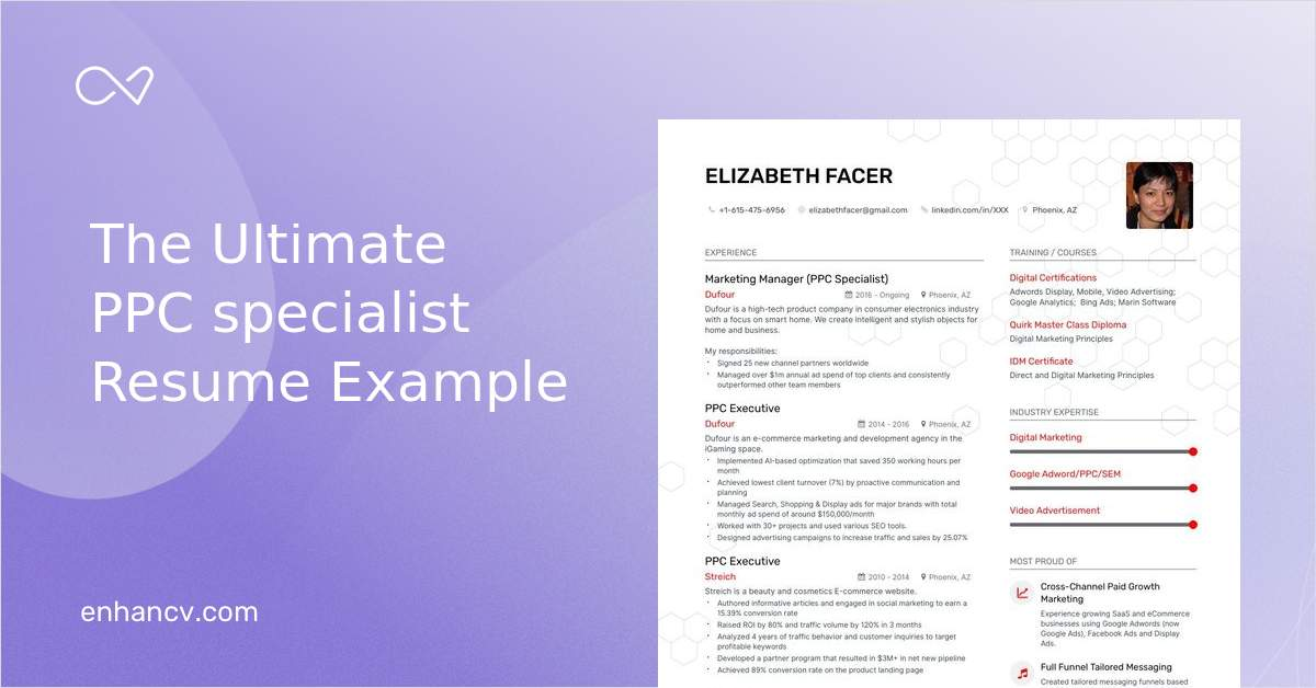 Ppc Specialist Resume Examples Do S And Don Ts For 2020