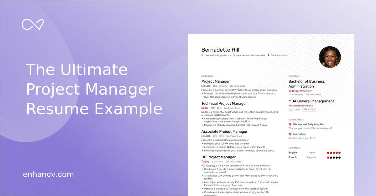 Project Manager Resume Examples Guide Expert Tips For 2020