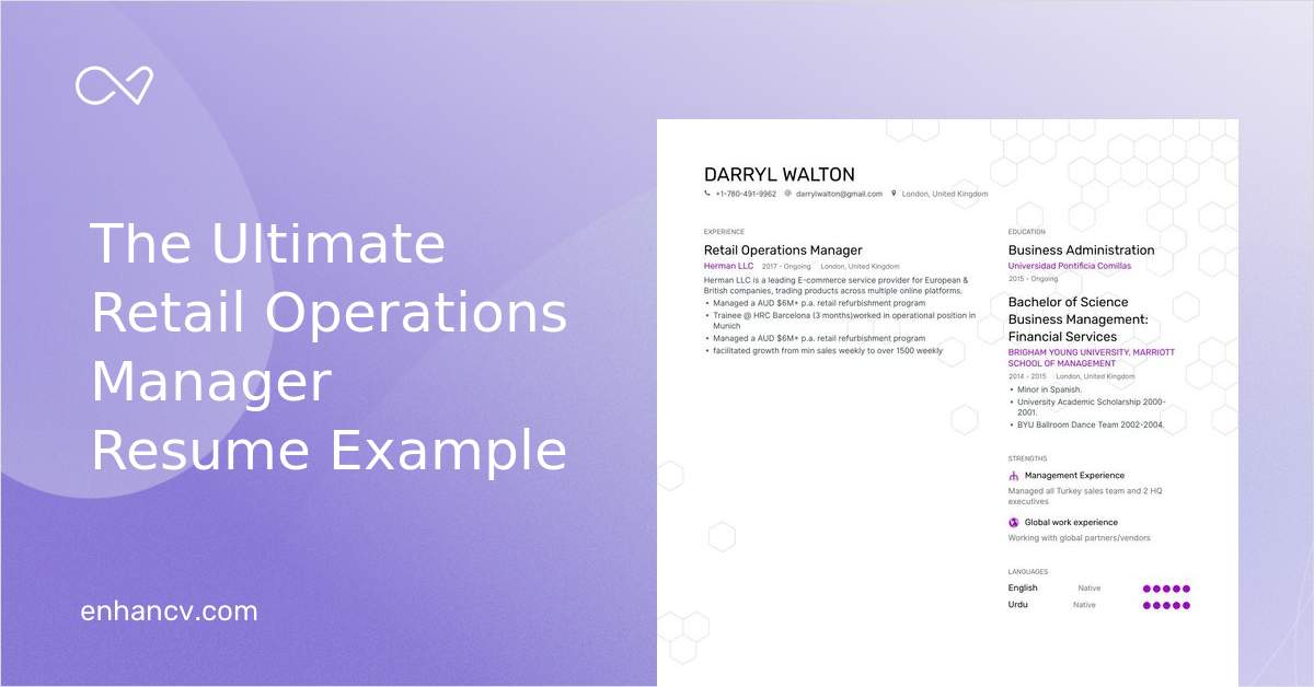 download  retail operations manager resume example for