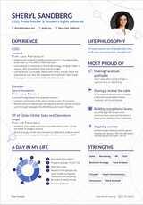 sheryl sandberg s coo resume example enhancv