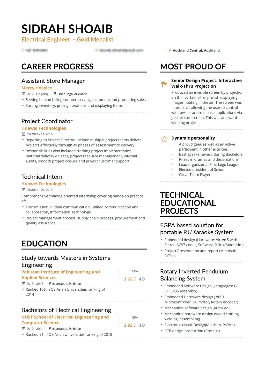 real electrical engineer resume enhancv