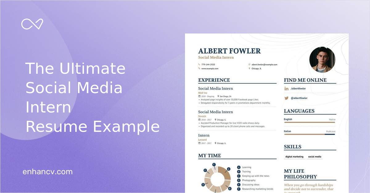 social media intern resume examples   expert advice