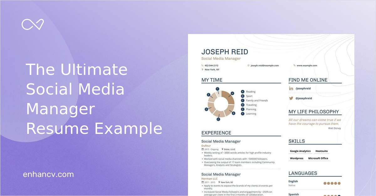 social media manager resume examples  skills  templates  u0026 more for 2020