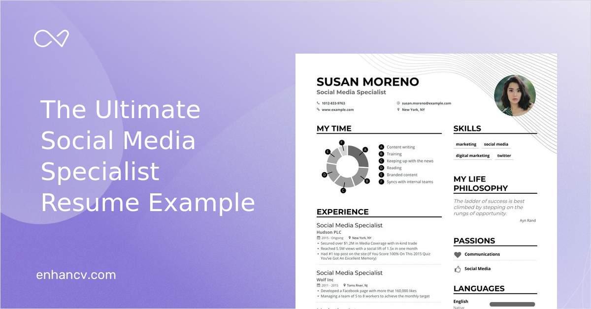 Download Social Media Specialist Resume Example For 2021 Enhancv Com