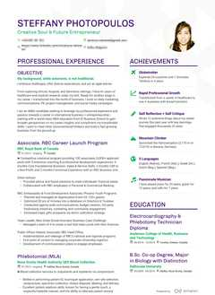 Steffany Photopoulos's resume preview