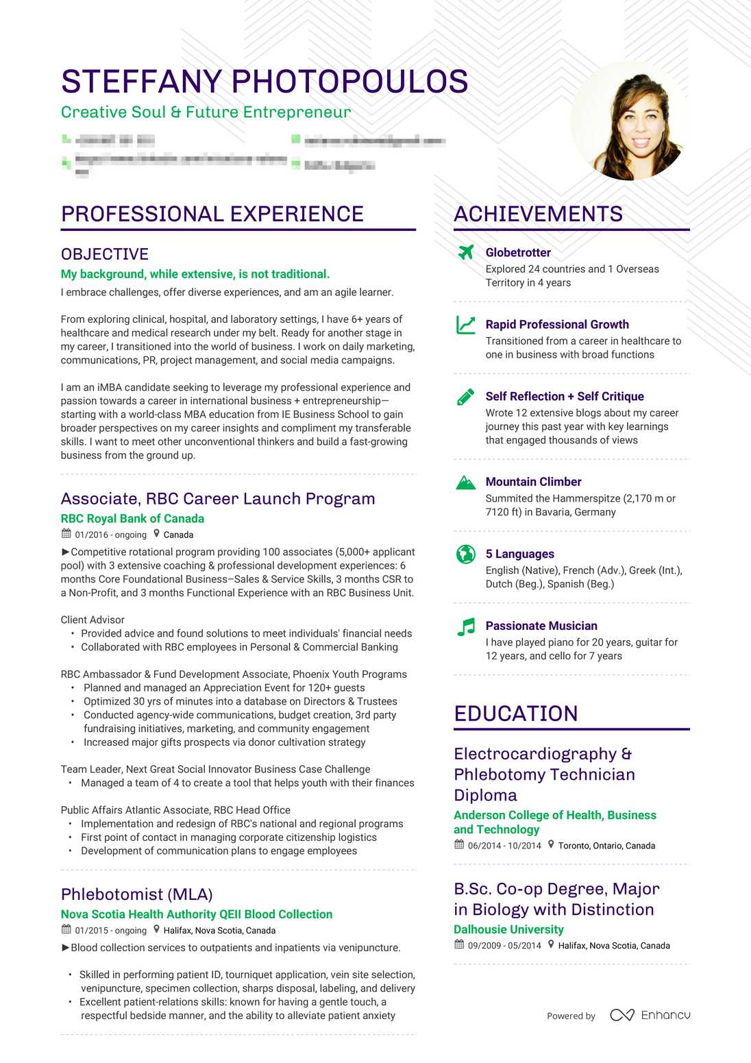 Real Career Change Resume Example Enhancv