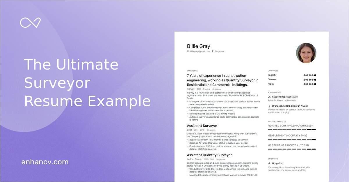 Top Surveyor Resume Examples Samples For 2020 Enhancv Com