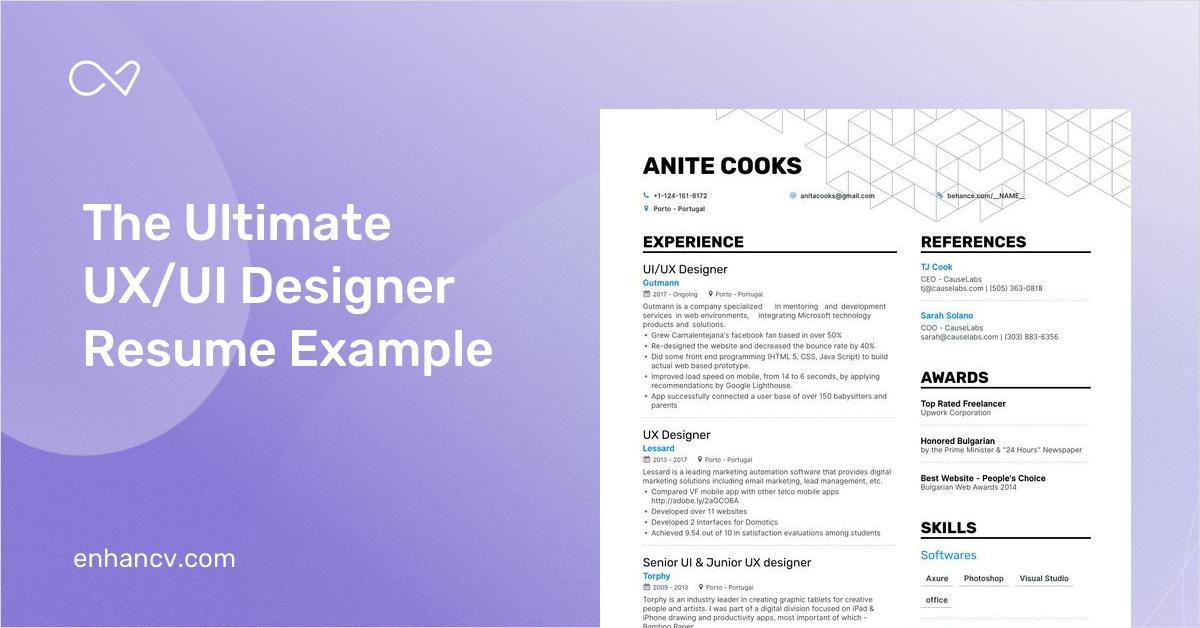 Ux Ui Designer Resume 8 Step Guide To Get Hired