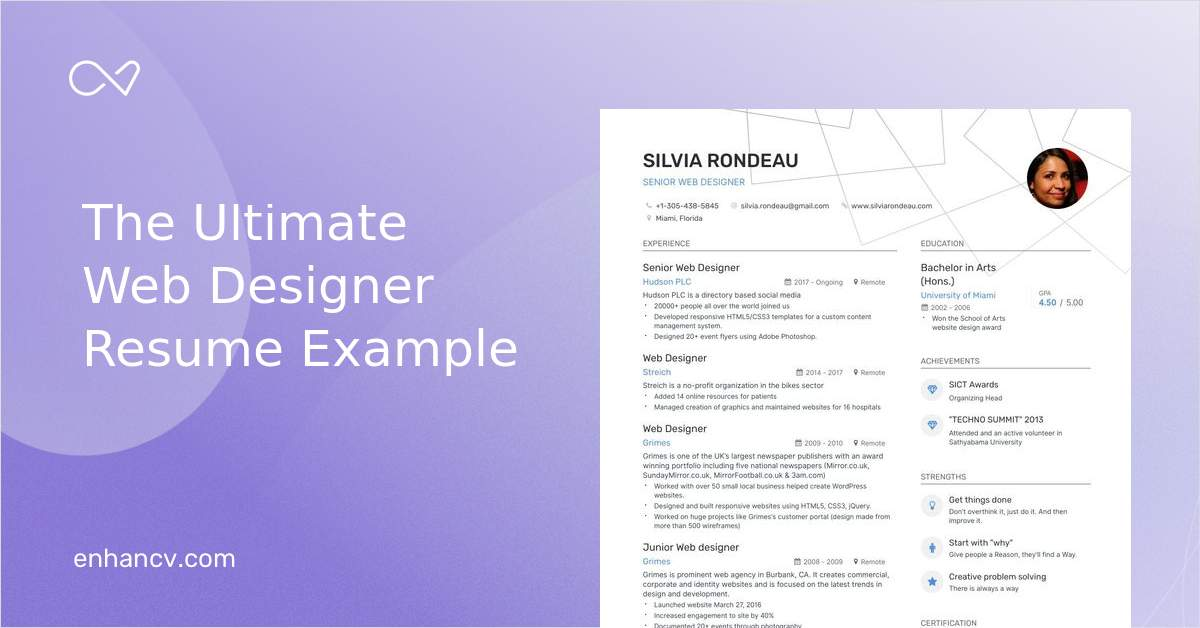 The Best Web Designer Resume Examples Skills To Get You Hired